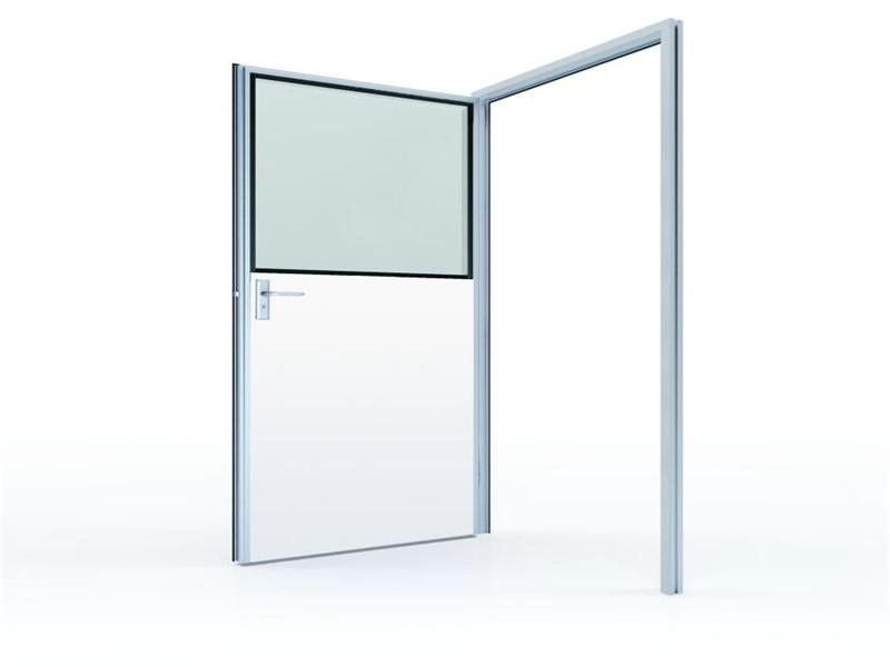 50#净化彩钢板半玻璃平开门